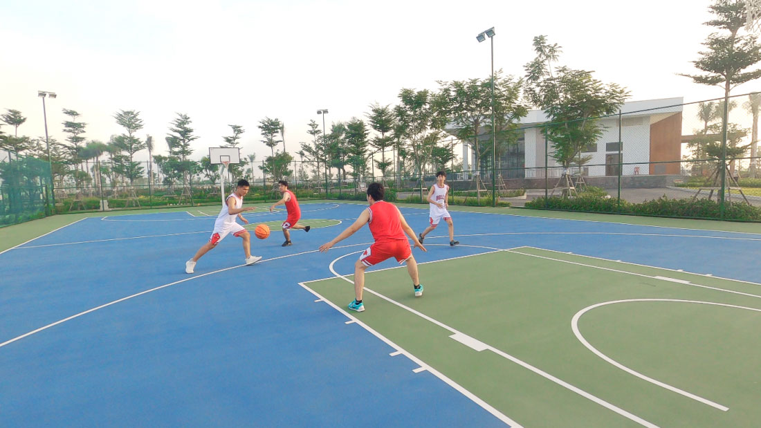 Các môn thể thao vận động tăng cường sức khỏe và kết nối cộng đồng được chú trọng góp phần giúp Waterpoint chinh phục những người yêu lối sống khỏe mạnh