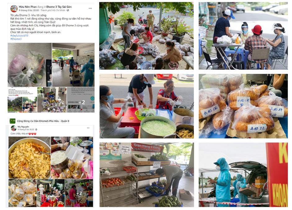 Nghĩa tình mùa dịch đã lan tỏa rộng rãi trong các cộng đồng cư dân EHome (Nguồn: Hình ảnh cư dân)
