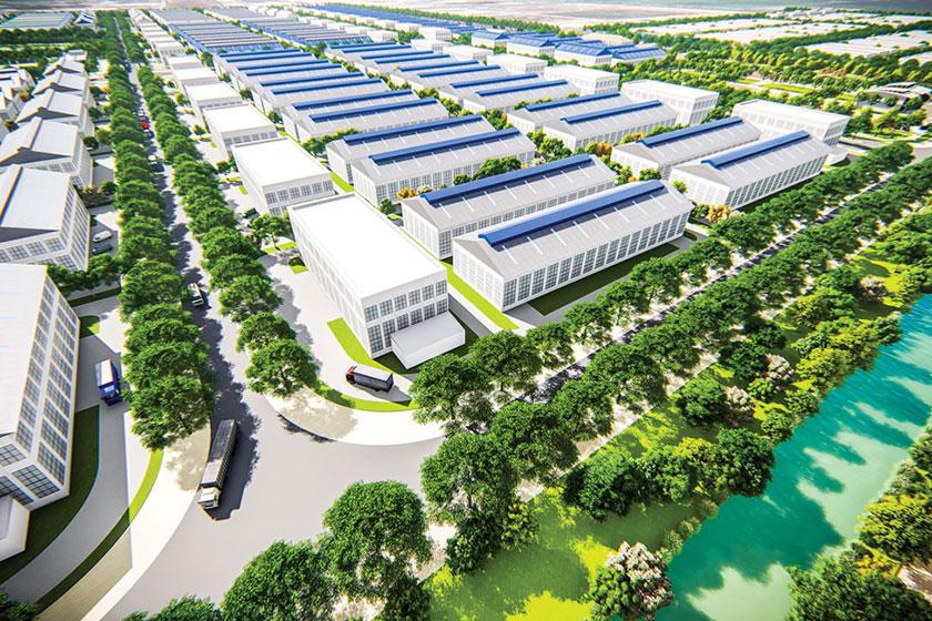 Khu công nghiệp Nam Tân Tập, tỉnh Long An có tổng vốn đầu tư 2.590 tỷ đồng. Ảnh minh họa